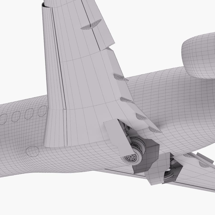 Dassault Falcon 2000LXS. Ożywiony. 5 royalty-free 3d model - Preview no. 32