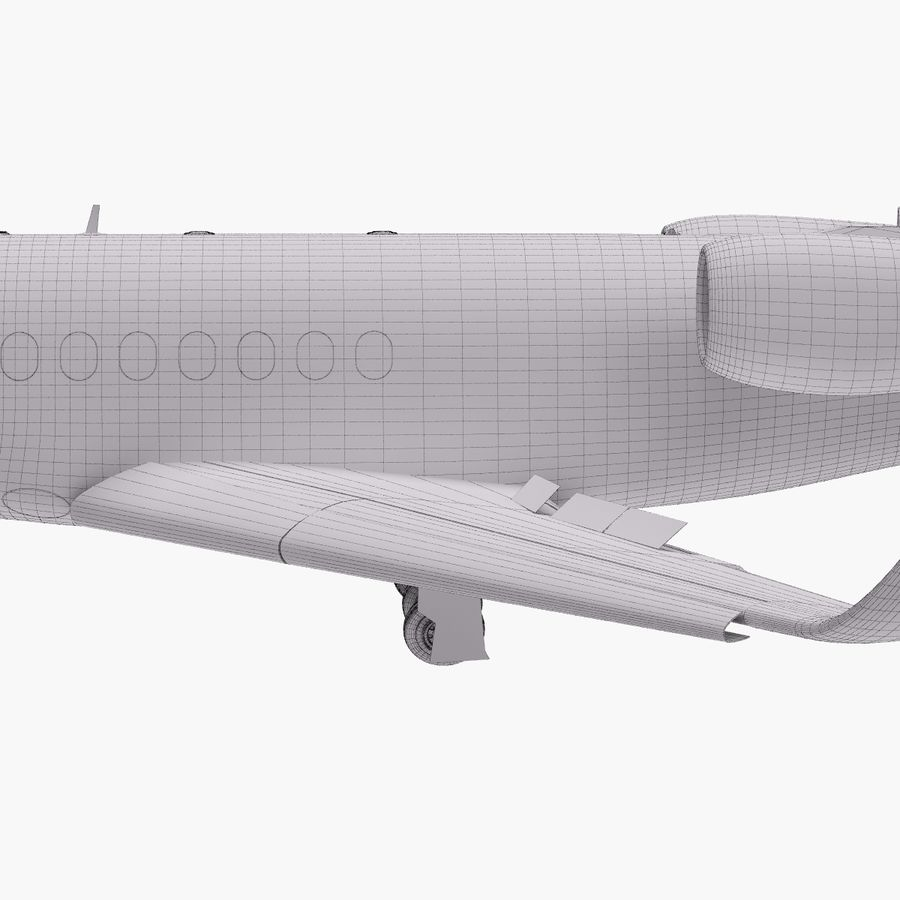 Dassault Falcon 2000LXS. Ożywiony. 5 royalty-free 3d model - Preview no. 29