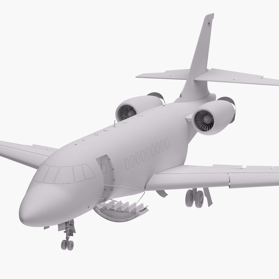 Dassault Falcon 2000LXS. Ożywiony. 5 royalty-free 3d model - Preview no. 24