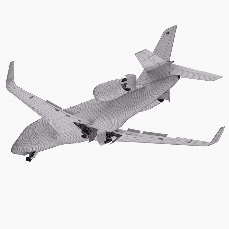 Dassault Falcon 2000LXS. Ożywiony. 5 royalty-free 3d model - Preview no. 35