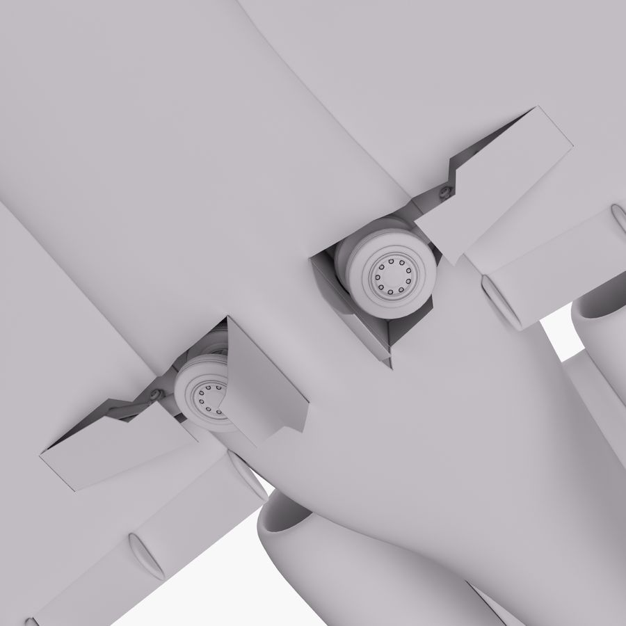 Dassault Falcon 2000LXS. Ożywiony. 5 royalty-free 3d model - Preview no. 22