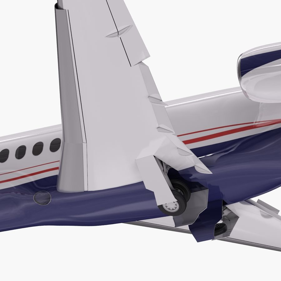 Dassault Falcon 2000LXS. Ożywiony. 5 royalty-free 3d model - Preview no. 8