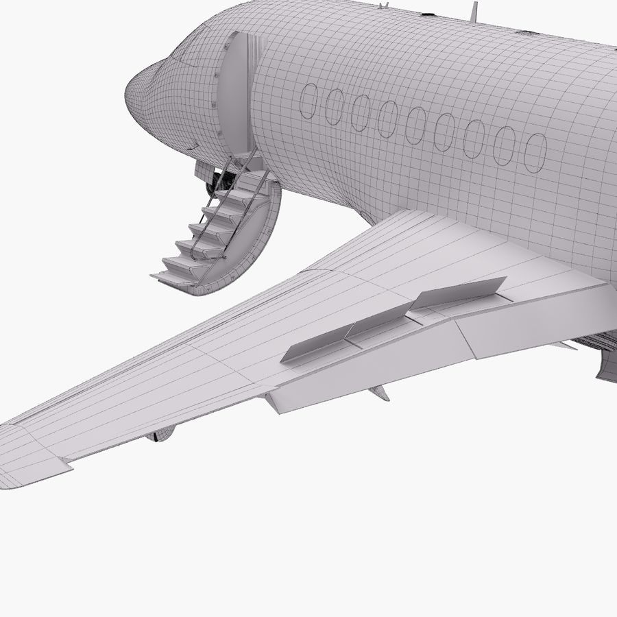 Dassault Falcon 2000LXS. Ożywiony. 5 royalty-free 3d model - Preview no. 33