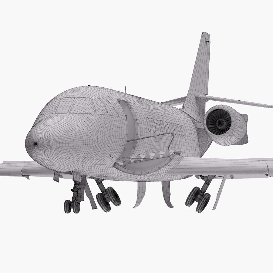 Dassault Falcon 2000LXS. Ożywiony. 5 royalty-free 3d model - Preview no. 30