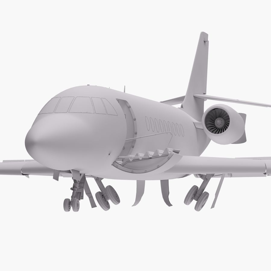 Dassault Falcon 2000LXS. Ożywiony. 5 royalty-free 3d model - Preview no. 18