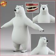 Kreskówka niedźwiedź polarny dwunożny 3d model