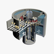 Nuclear Reactor - Cutaway 3d model