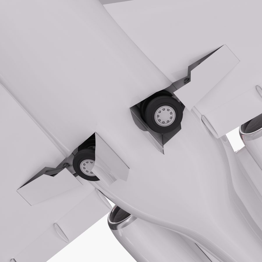 Dassault Falcon 2000LXS. Ożywiony. 3 royalty-free 3d model - Preview no. 10