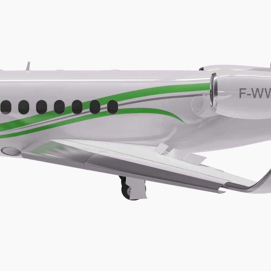 Dassault Falcon 2000LXS. Ożywiony. 3 royalty-free 3d model - Preview no. 5