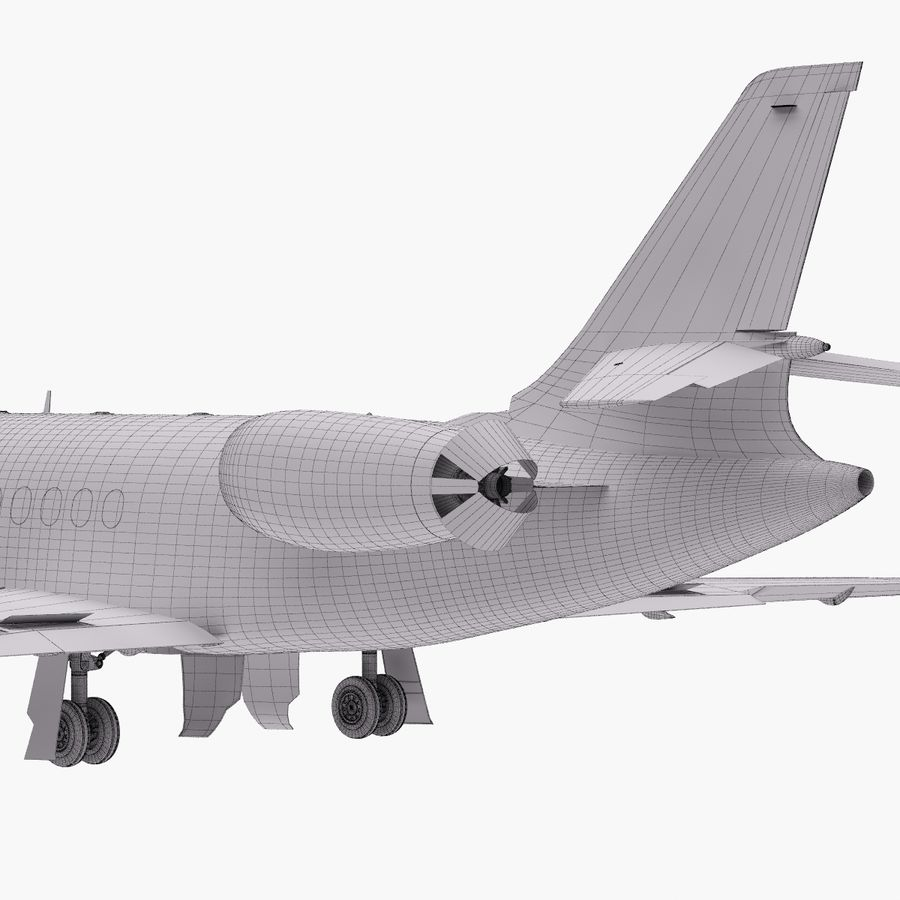 Dassault Falcon 2000LXS. Ożywiony. 3 royalty-free 3d model - Preview no. 27