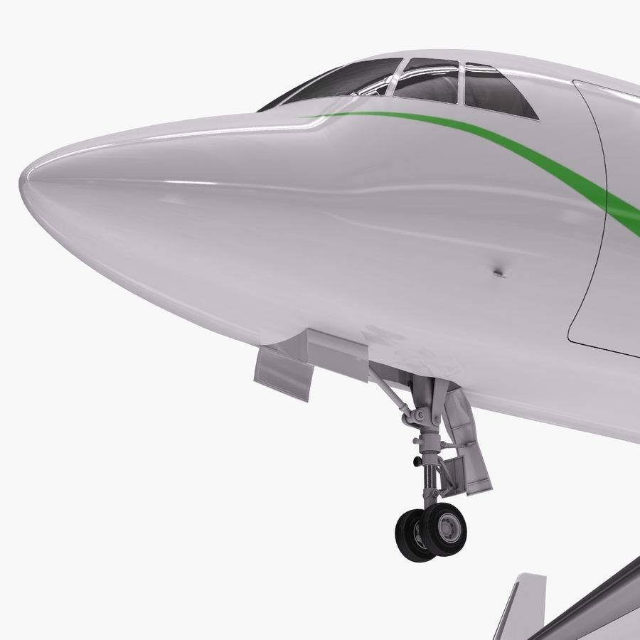 Dassault Falcon 2000LXS. Ożywiony. 3 royalty-free 3d model - Preview no. 2