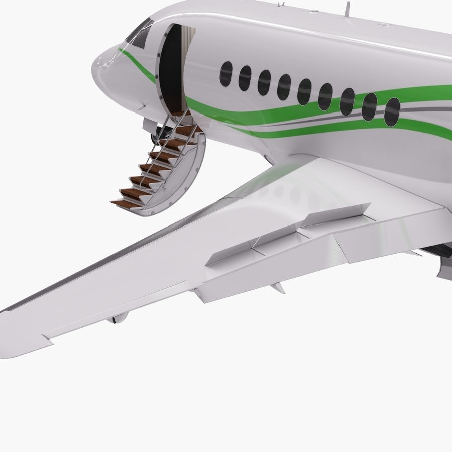 Dassault Falcon 2000LXS. Ożywiony. 3 royalty-free 3d model - Preview no. 9