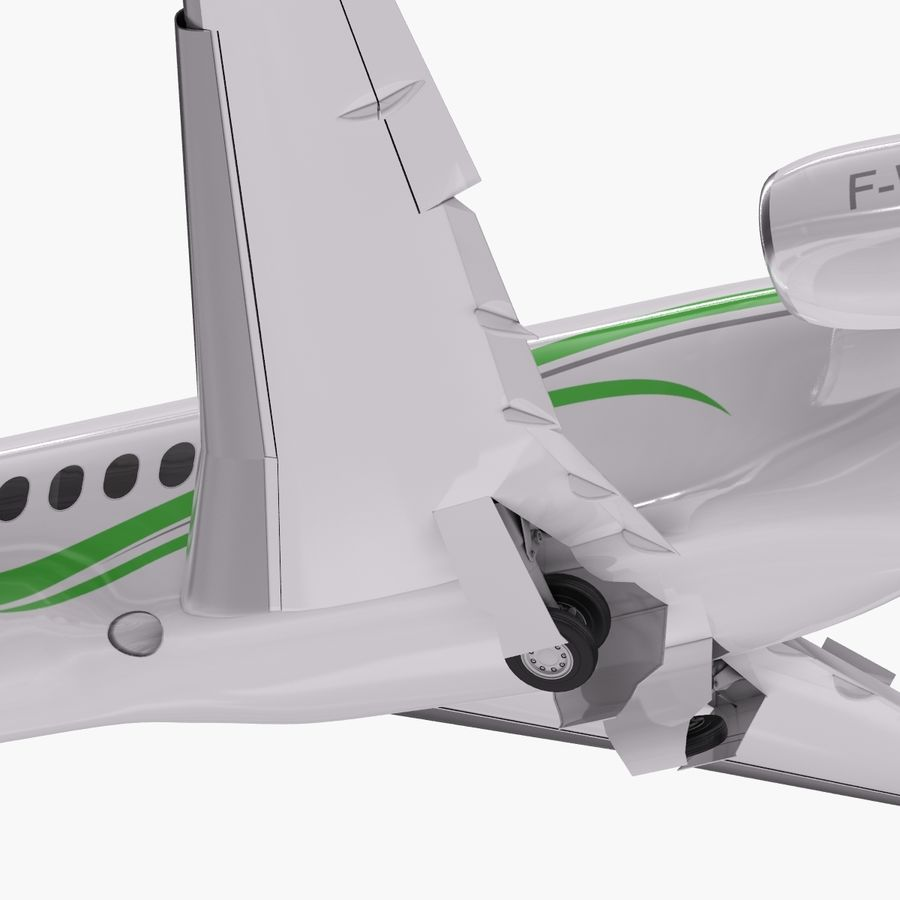 Dassault Falcon 2000LXS. Ożywiony. 3 royalty-free 3d model - Preview no. 8