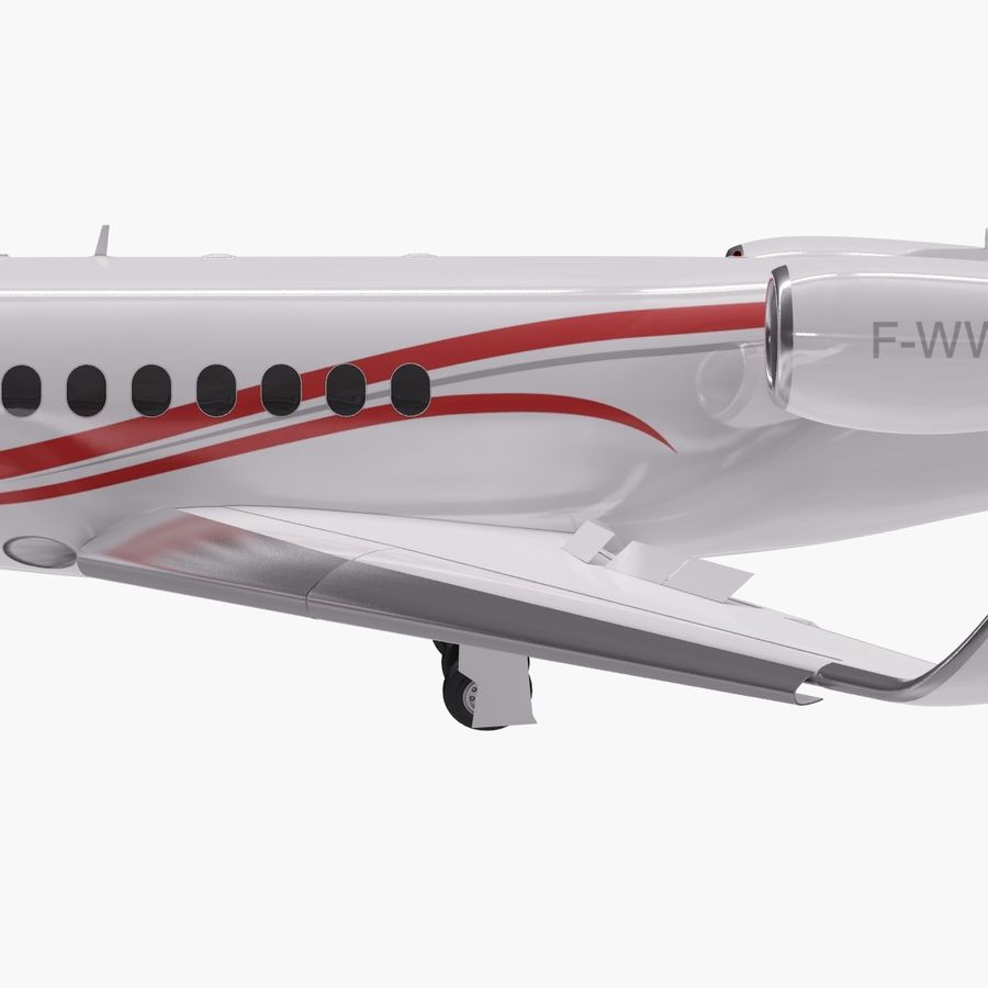 Dassault Falcon 2000LXS. Ożywiony. royalty-free 3d model - Preview no. 5
