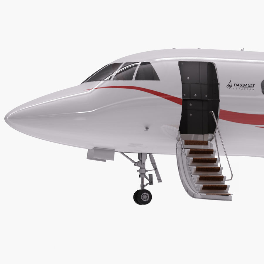 Dassault Falcon 2000LXS. Ożywiony. royalty-free 3d model - Preview no. 2