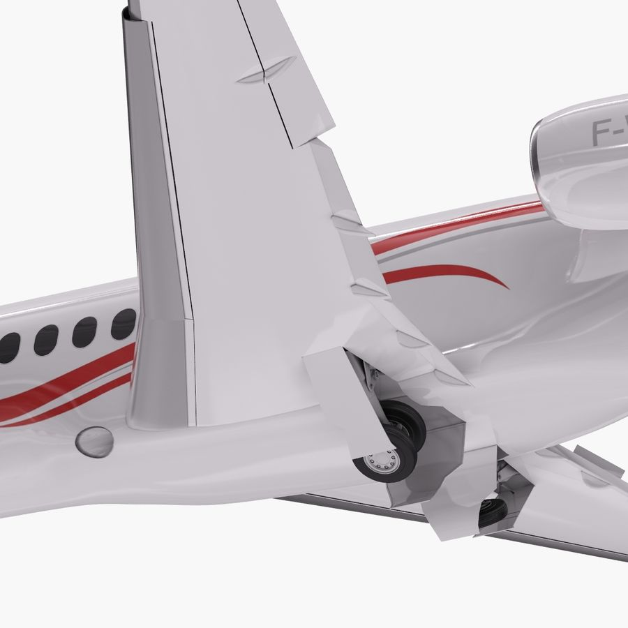 Dassault Falcon 2000LXS. Ożywiony. royalty-free 3d model - Preview no. 8