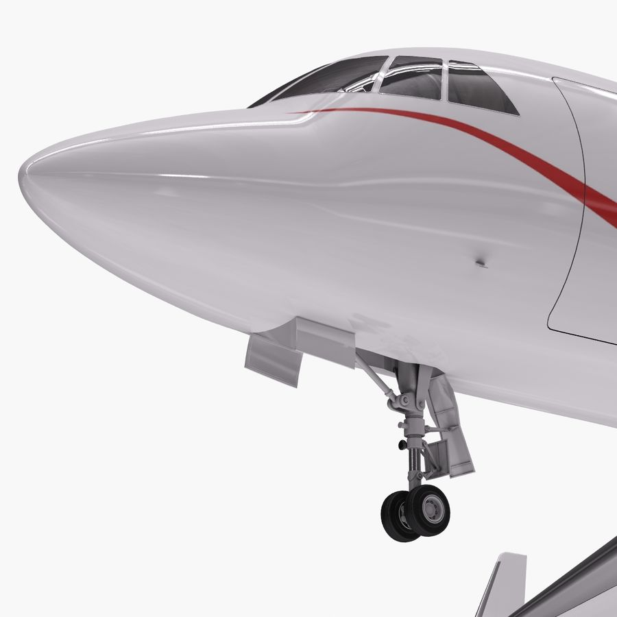 Dassault Falcon 2000LXS. Ożywiony. royalty-free 3d model - Preview no. 12