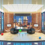저녁 TV 토크쇼 스튜디오 3d model