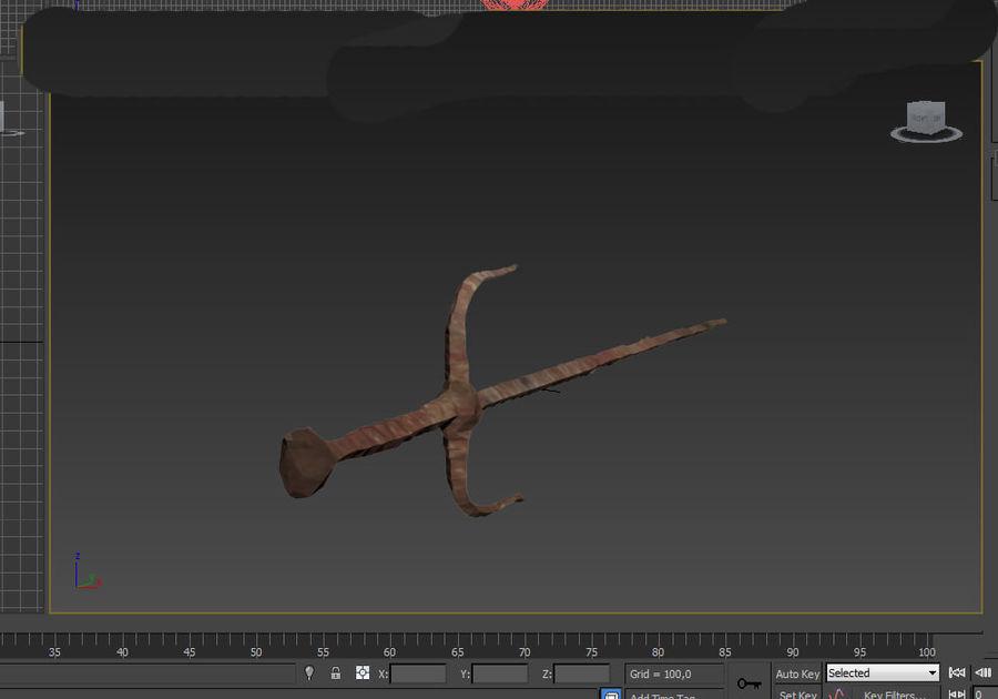 rusty sai royalty-free 3d model - Preview no. 5