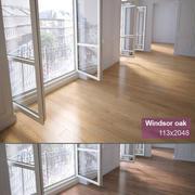 참나무 바닥 3d model