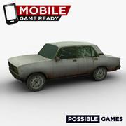 Stary samochód gotowy do gier mobilnych 3d model