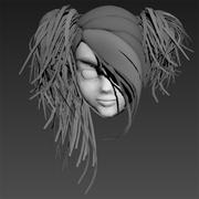 髪のドリフト 3d model