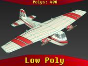 물 폭격기 비행기 3d model