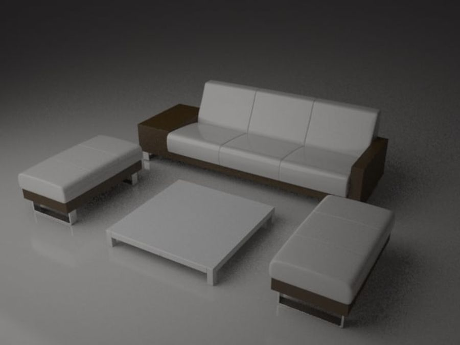 sofa furniture royalty-free 3d model - Preview no. 4