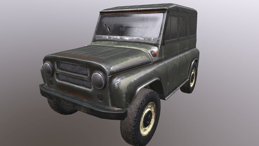 UAZ royalty-free 3d model - Preview no. 1