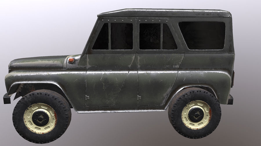 UAZ royalty-free 3d model - Preview no. 3