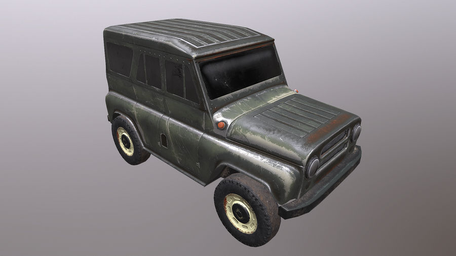 UAZ royalty-free 3d model - Preview no. 4