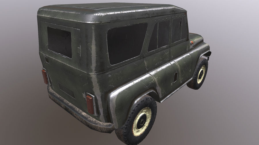 UAZ royalty-free 3d model - Preview no. 2