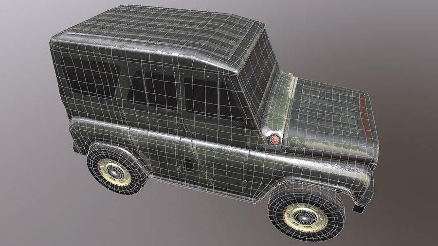 UAZ royalty-free 3d model - Preview no. 5