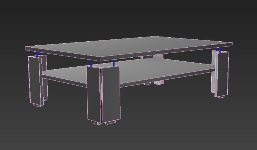 Modernt vardagsrumsbord royalty-free 3d model - Preview no. 6