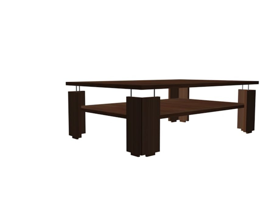 Modernt vardagsrumsbord royalty-free 3d model - Preview no. 5