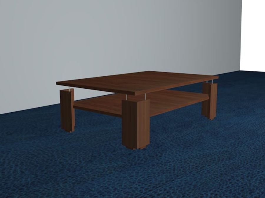 Modernt vardagsrumsbord royalty-free 3d model - Preview no. 1