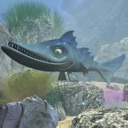 cartoon Barracuda Fish GERIGD 3d model