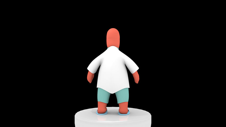 High-Poly Zoidberg royalty-free 3d model - Preview no. 4