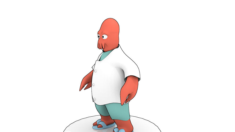 High-Poly Zoidberg royalty-free 3d model - Preview no. 5