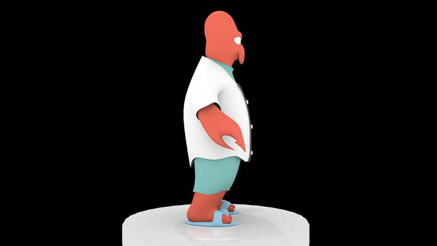 High-Poly Zoidberg royalty-free 3d model - Preview no. 2