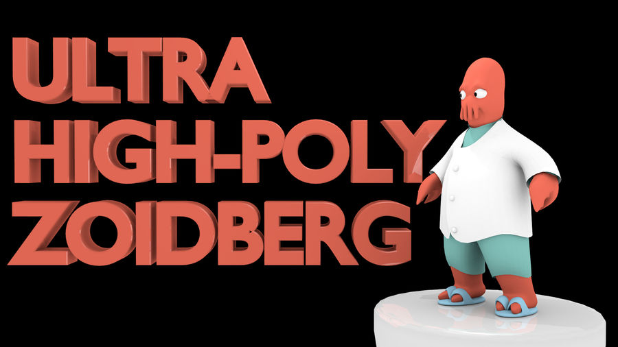 High-Poly Zoidberg royalty-free 3d model - Preview no. 1