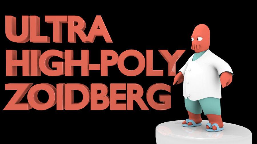 Zoidberg alto poli royalty-free 3d model - Preview no. 1