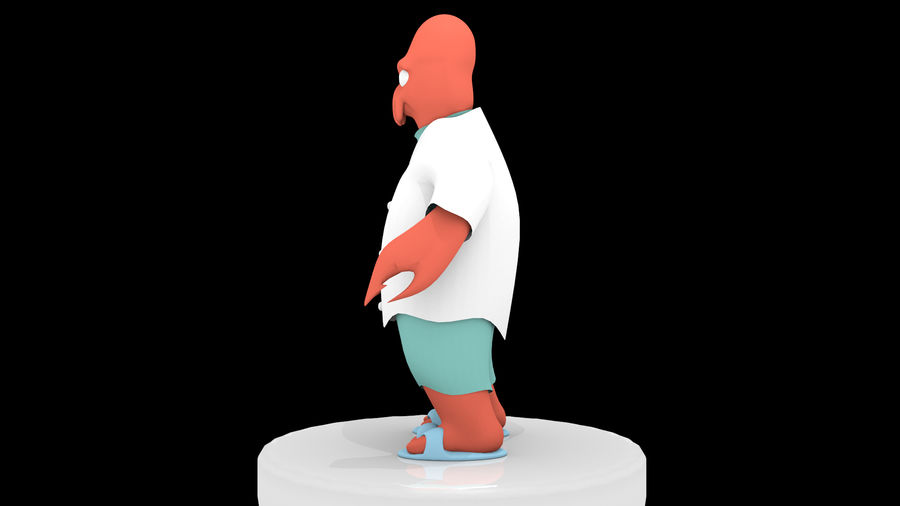 High-Poly Zoidberg royalty-free 3d model - Preview no. 3