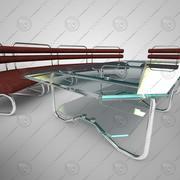 Sofa, Stuhl, Tisch 3d model