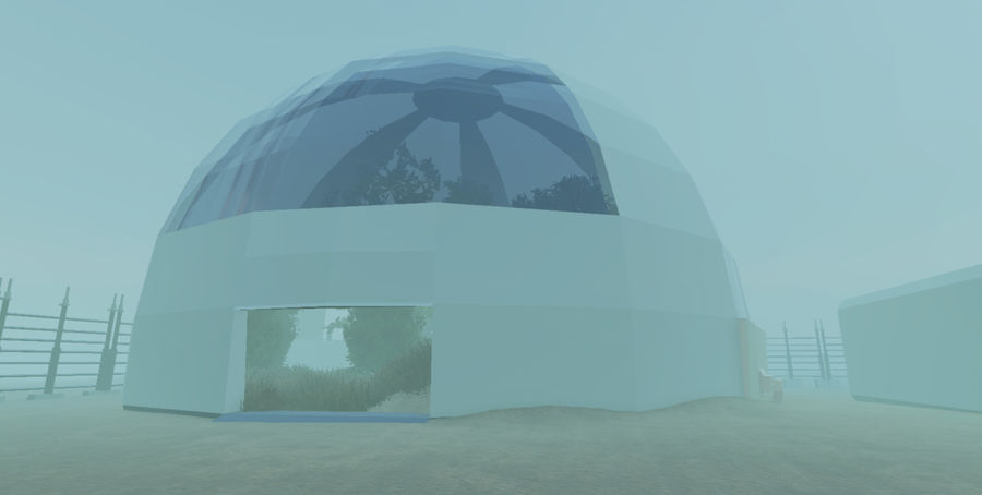 Biosphere Facility royalty-free 3d model - Preview no. 1