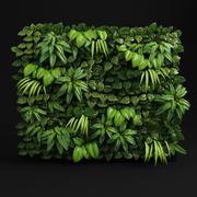 Módulo de pared verde modelo 3d