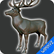 geyik heykeli 3d model