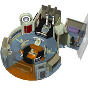Starship Bridge XT 3d model