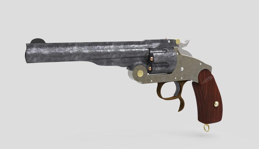 Colt Revolver Gun royalty-free 3d model - Preview no. 1