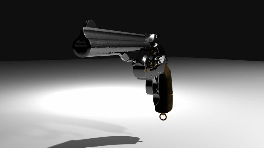 Colt Revolver Gun royalty-free 3d model - Preview no. 2